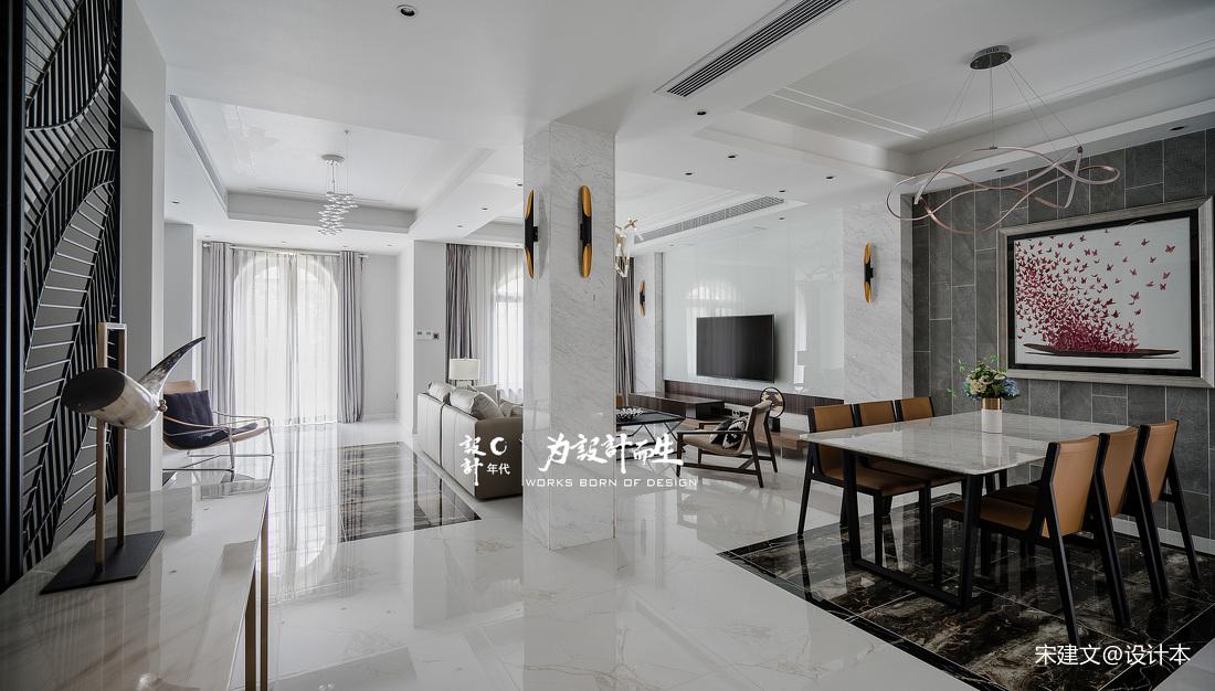简洁841平现代别墅客厅案例图