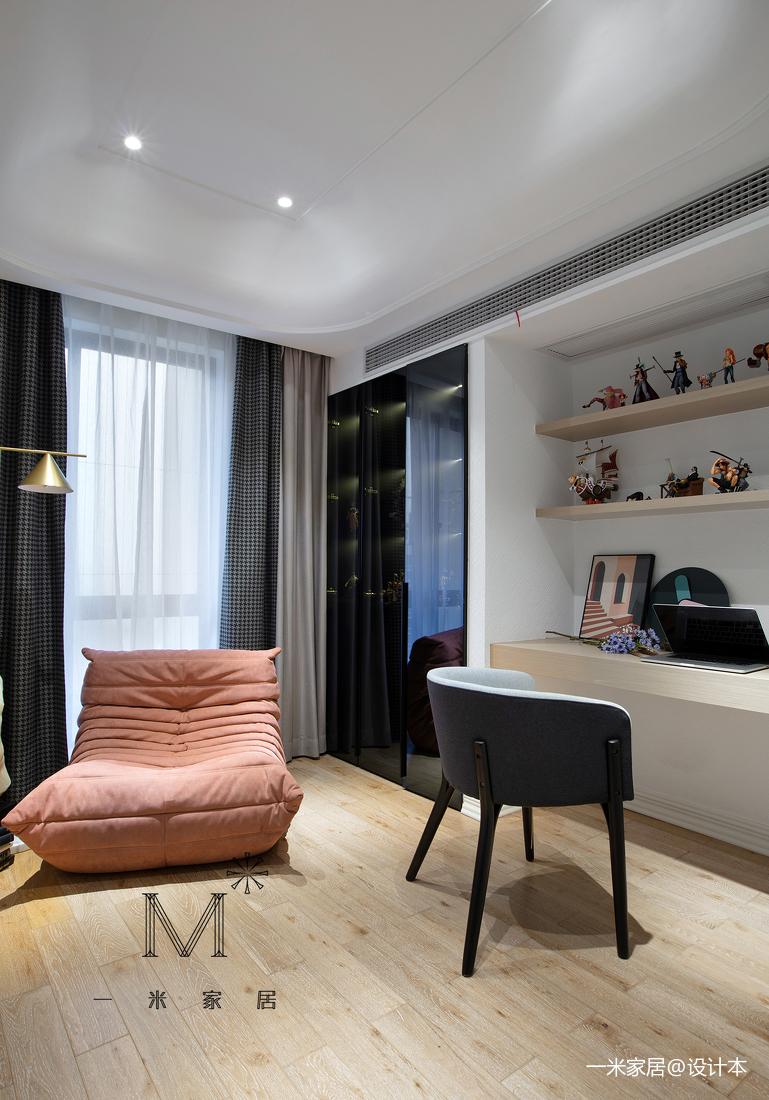 轻奢110平现代三居装修设计图