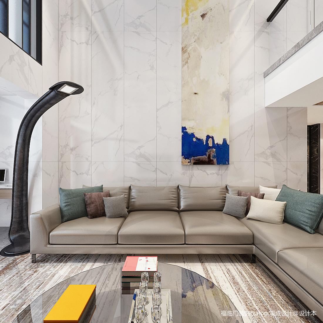 精美268平简约复式客厅实拍图