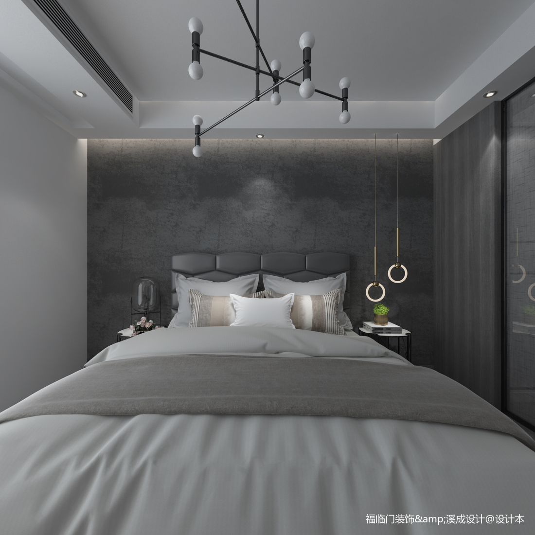 明亮56平简约复式卧室装修效果图