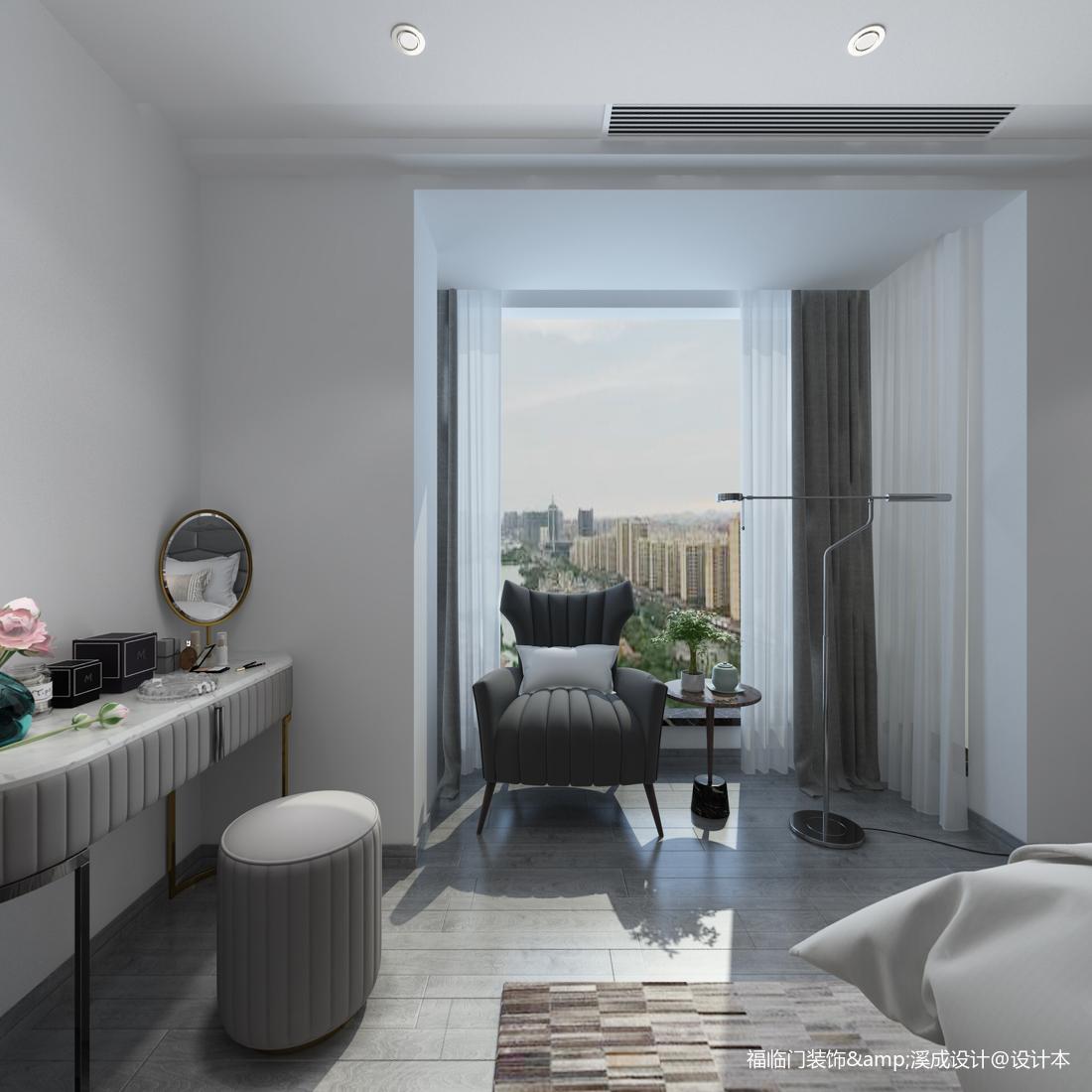温馨51平简约复式卧室装修设计图