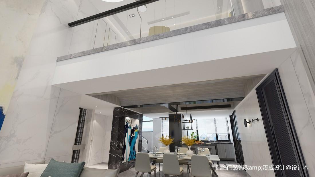 温馨73平简约复式客厅实景图片