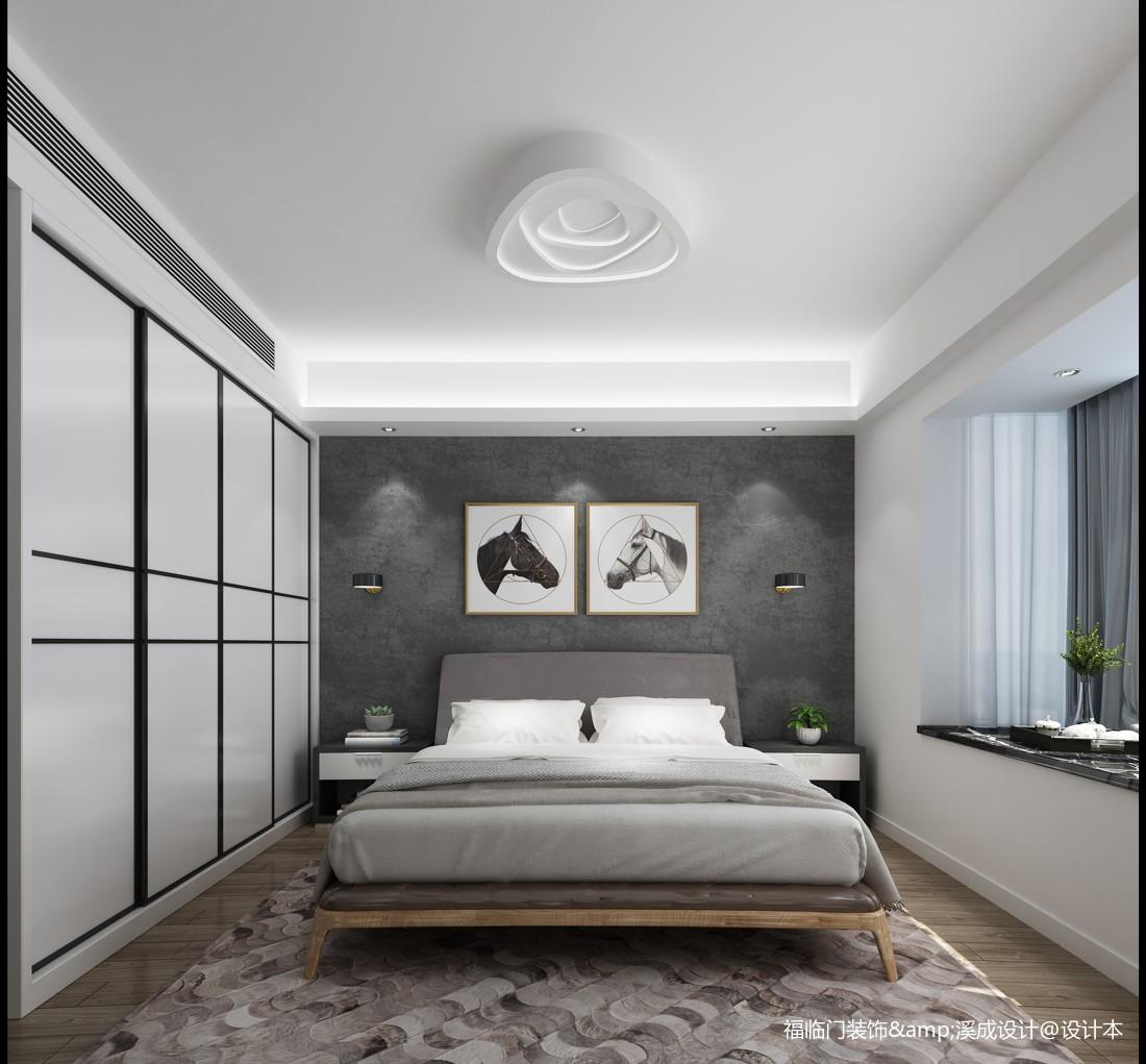 优美61平简约复式卧室装修装饰图