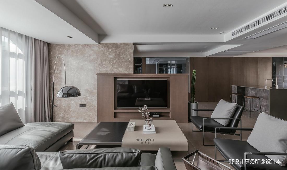 140m²二居现代风客厅设计图片
