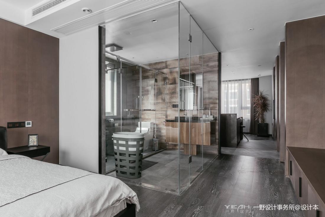 140m²二居现代风卧室卫浴设计