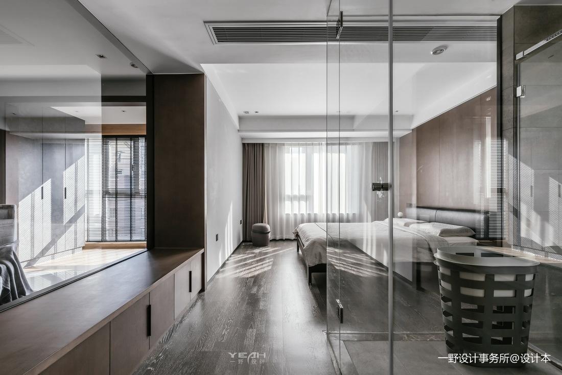 140m²二居现代风卧室实景图