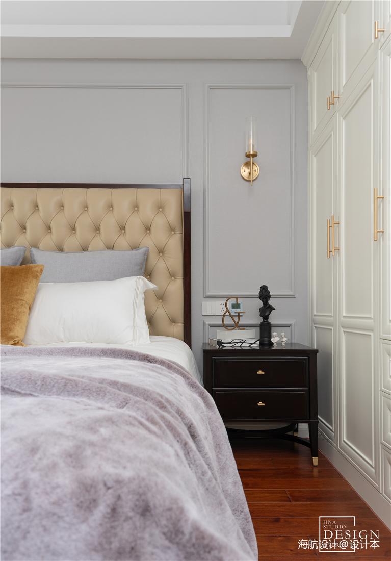 典雅122平美式三居卧室装修案例