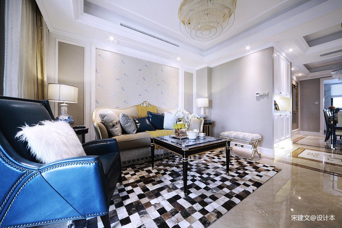 华丽86平北欧三居客厅设计效果图