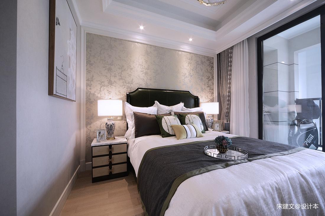 简洁116平北欧三居卧室装修设计图