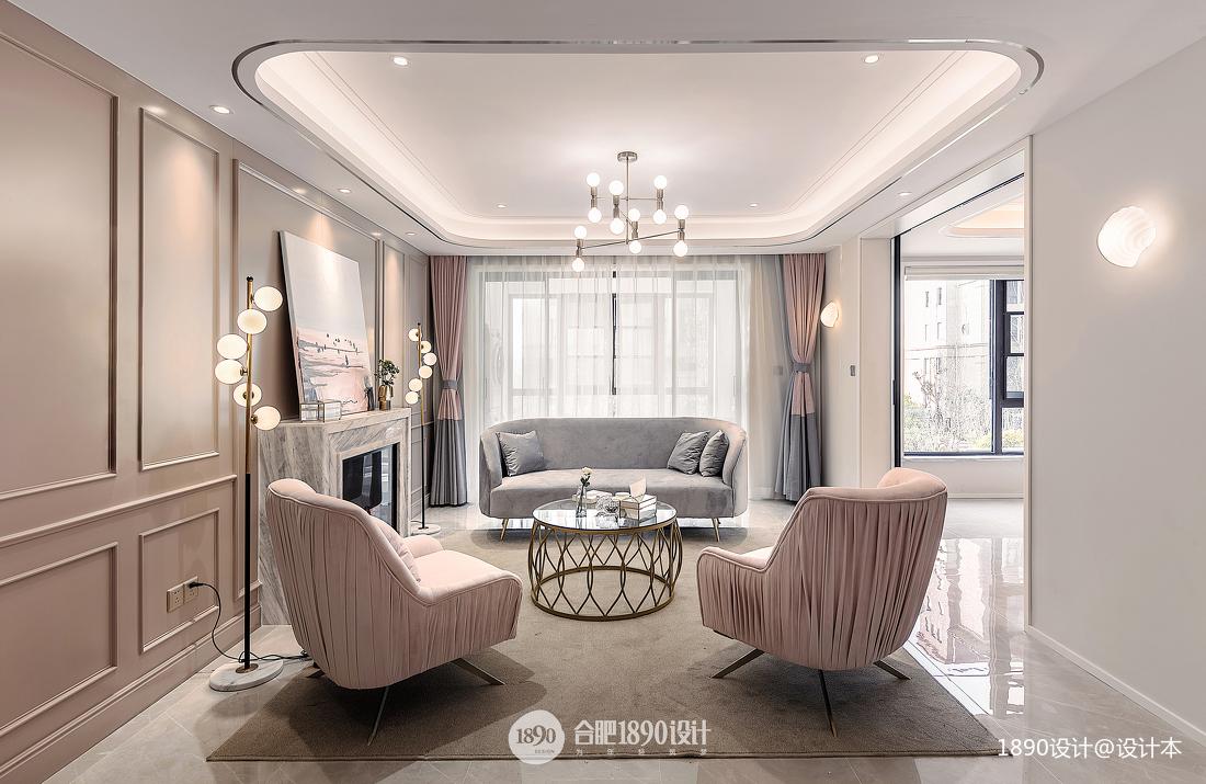 浪漫136平法式四居客厅装饰美图