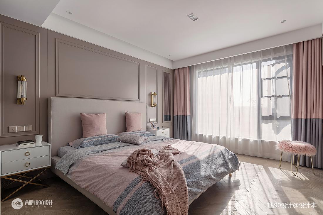 质朴159平法式四居卧室装饰图