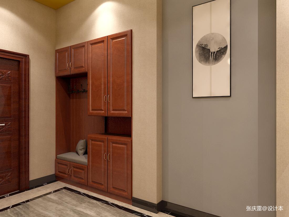 简洁479平中式别墅玄关设计案例