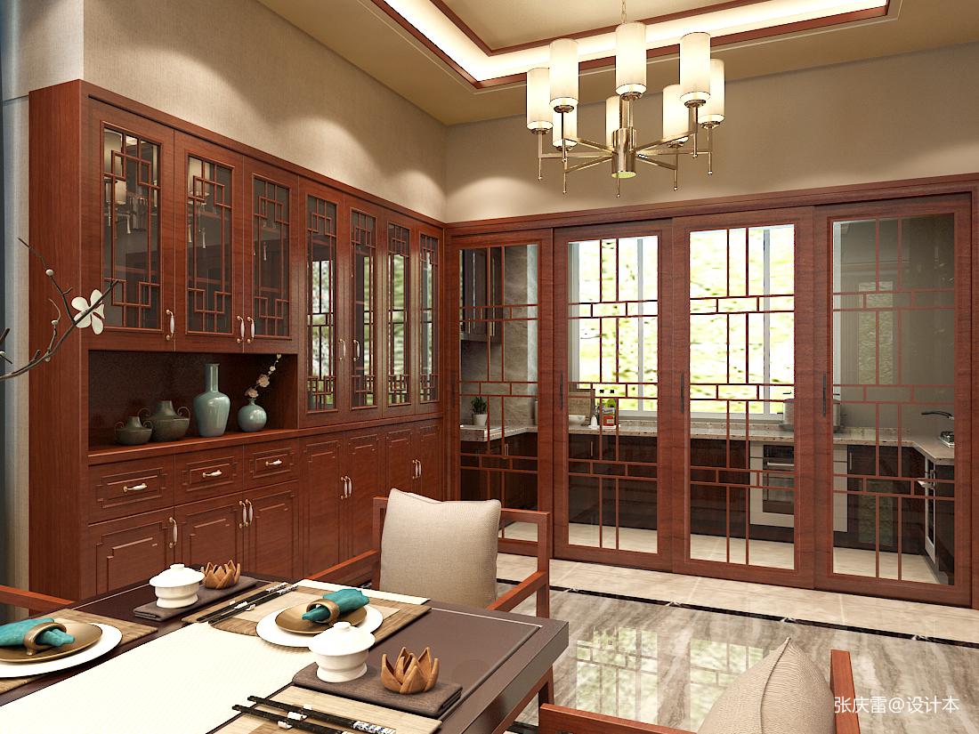 温馨552平中式别墅餐厅装修案例