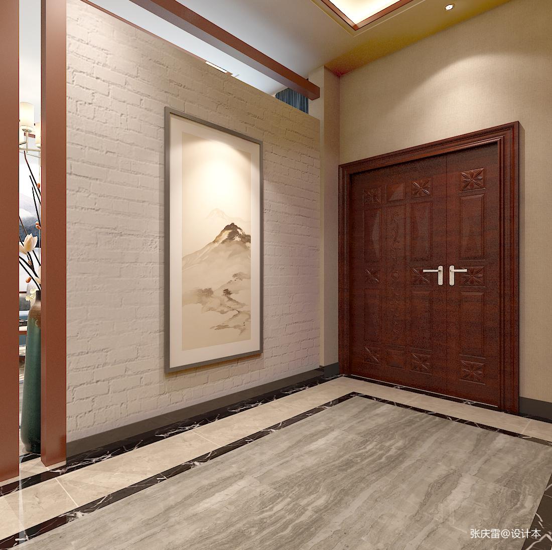 优雅856平中式别墅玄关装修设计图