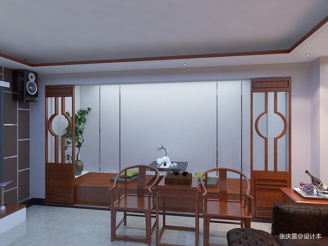 观山闲居中式别墅室内设计_3532393