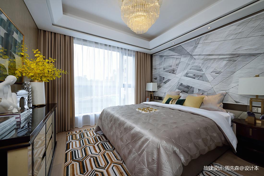 简洁325平现代样板间卧室设计效果图