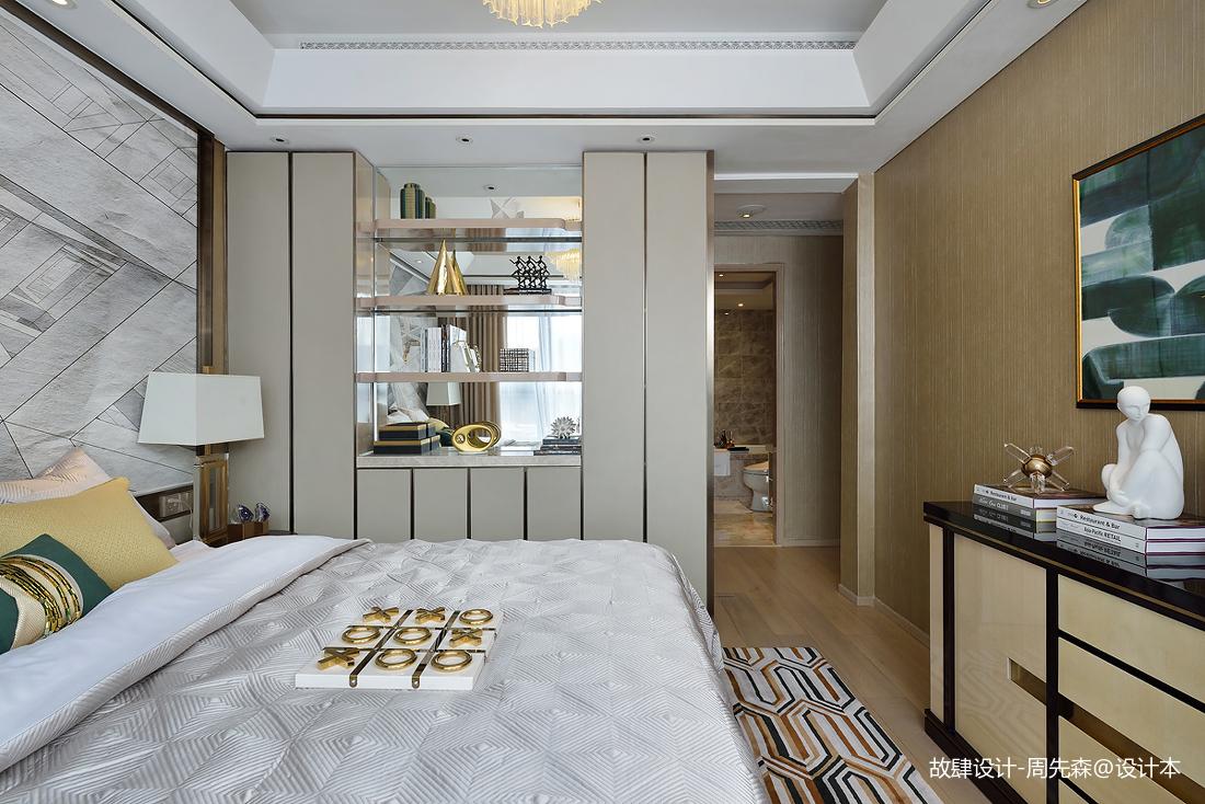 明亮280平现代样板间卧室实景图