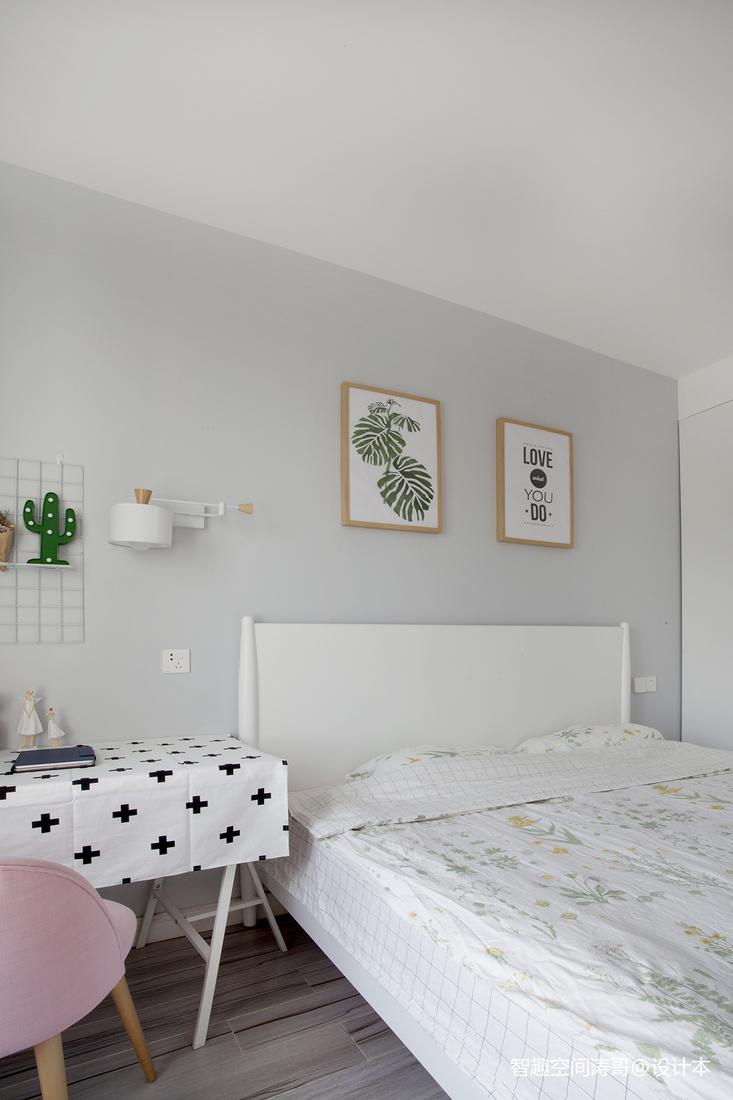 质朴57平北欧二居卧室效果图片大全