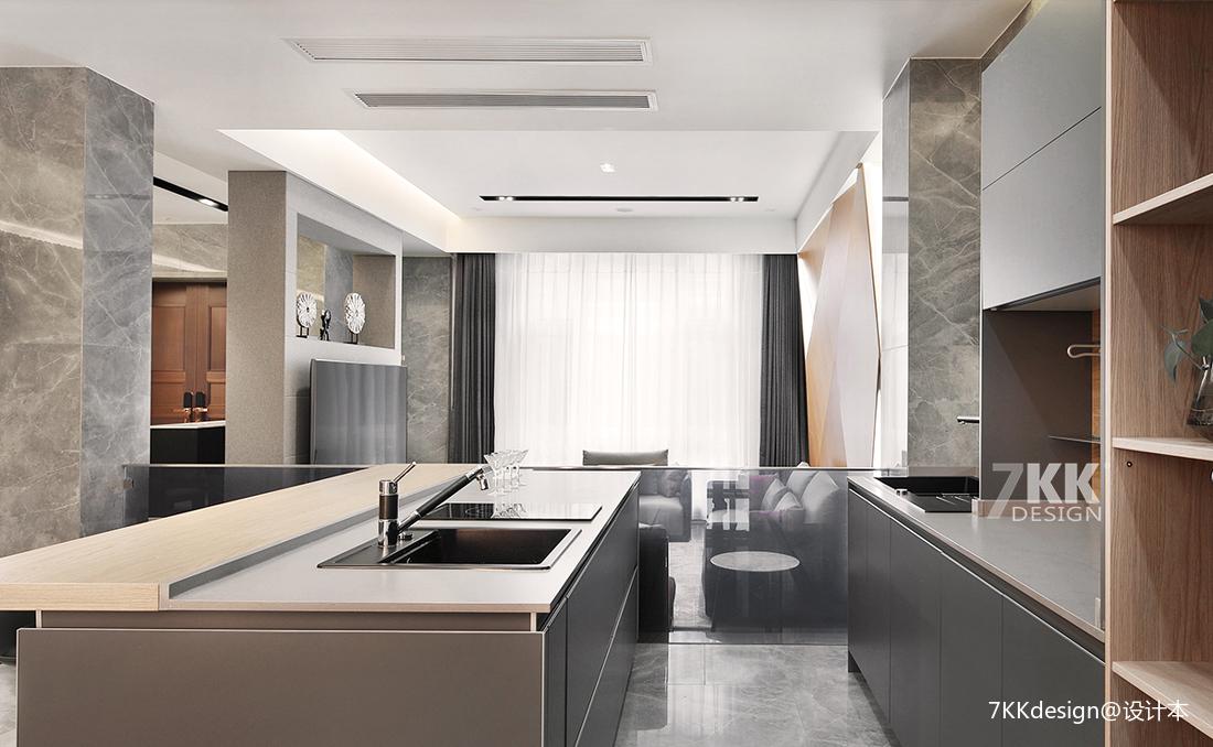 优美802平简约别墅厨房设计美图