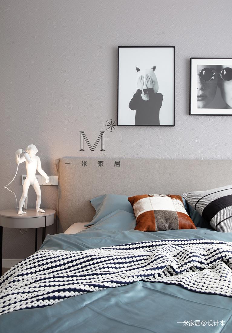 105㎡现代北欧卧室装饰画设计