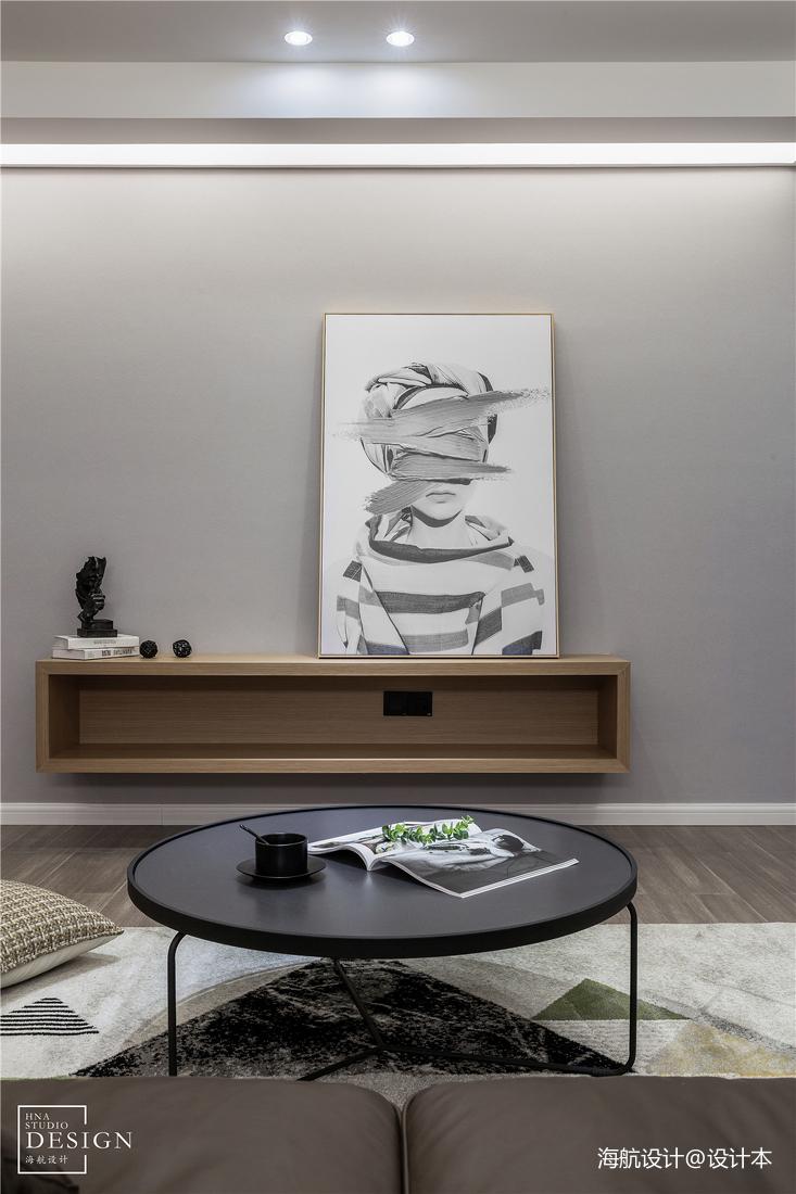 浪漫88平北欧三居客厅装饰图