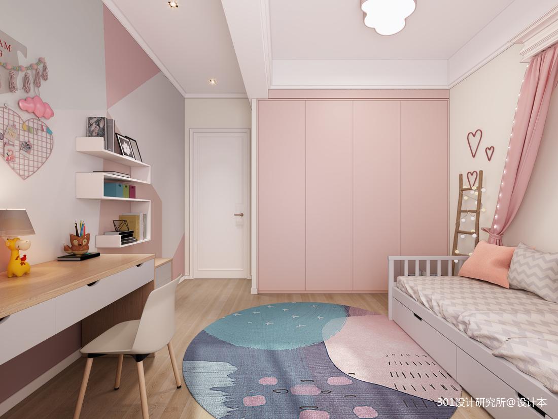 悠雅72平北欧复式儿童房装潢图