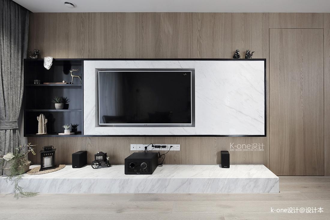 优雅100平简约三居客厅实景图片