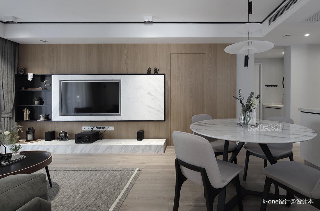 质朴71平简约三居客厅设计案例