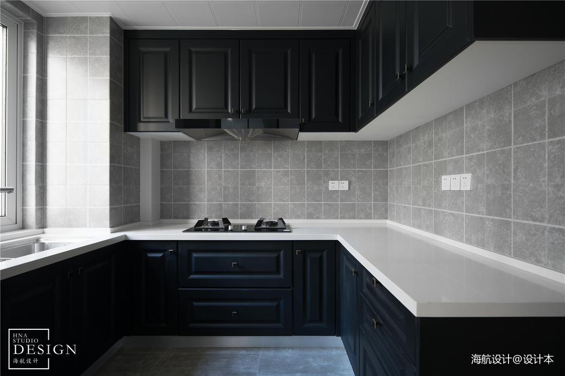 黑白灰美式厨房设计