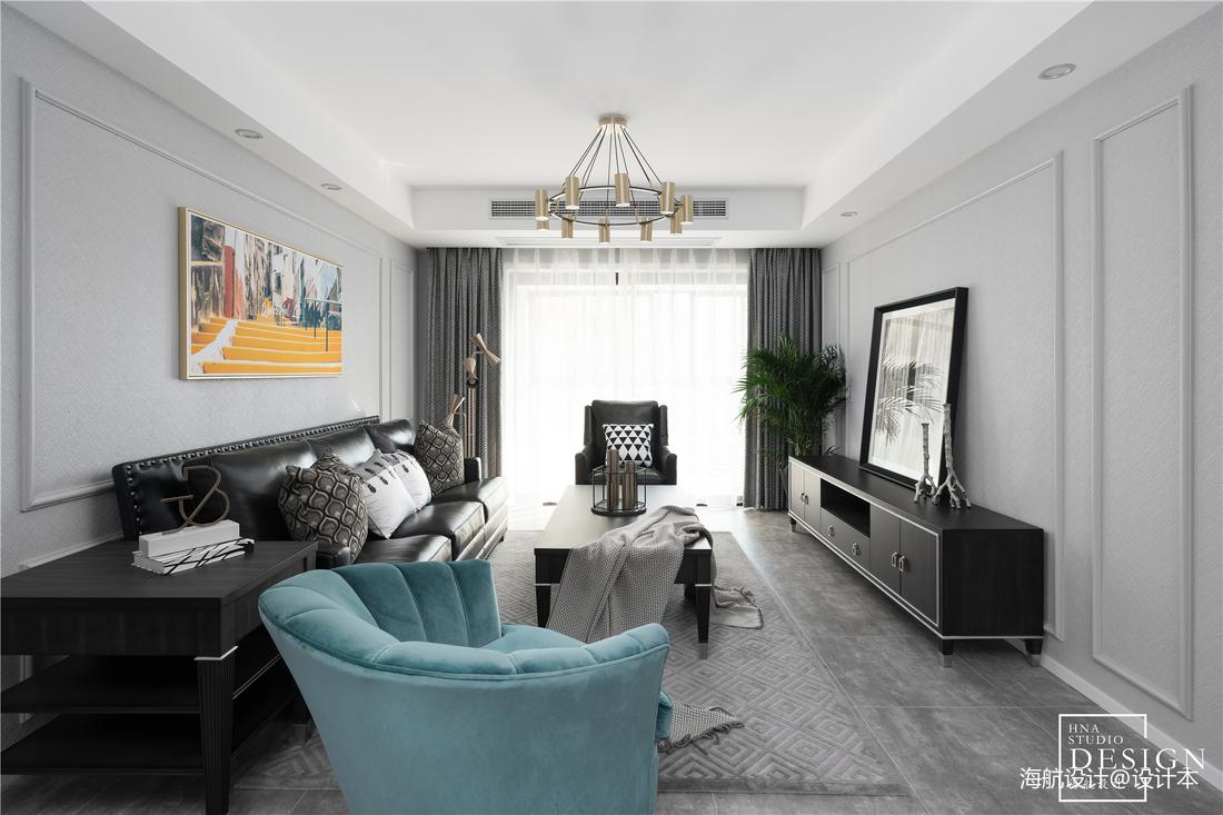 时尚美式客厅设计图片