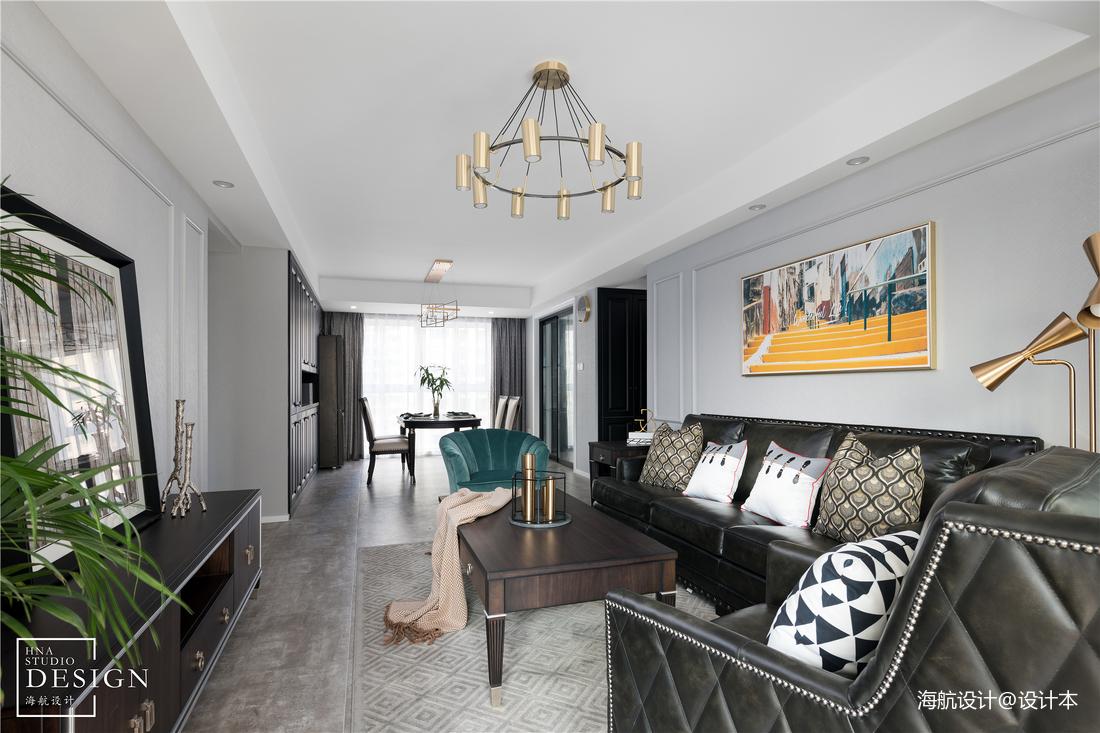 时尚美式客厅吊灯设计图片