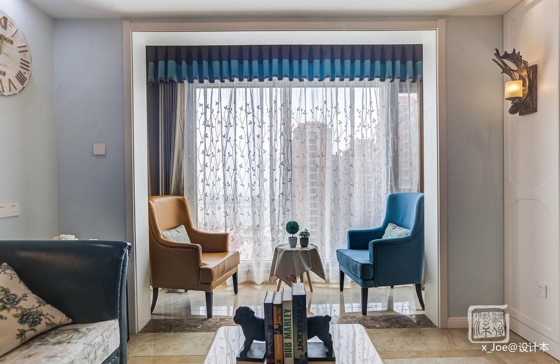 精美54平地中海二居客厅装修设计图
