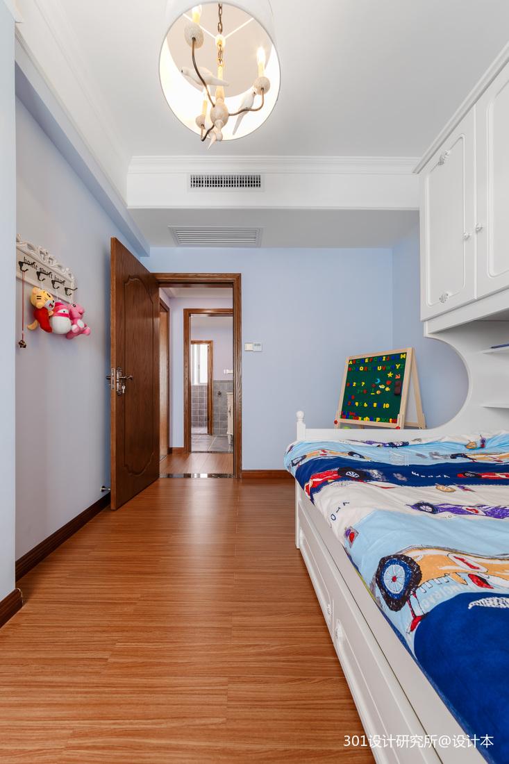 轻奢55平美式二居儿童房装潢图