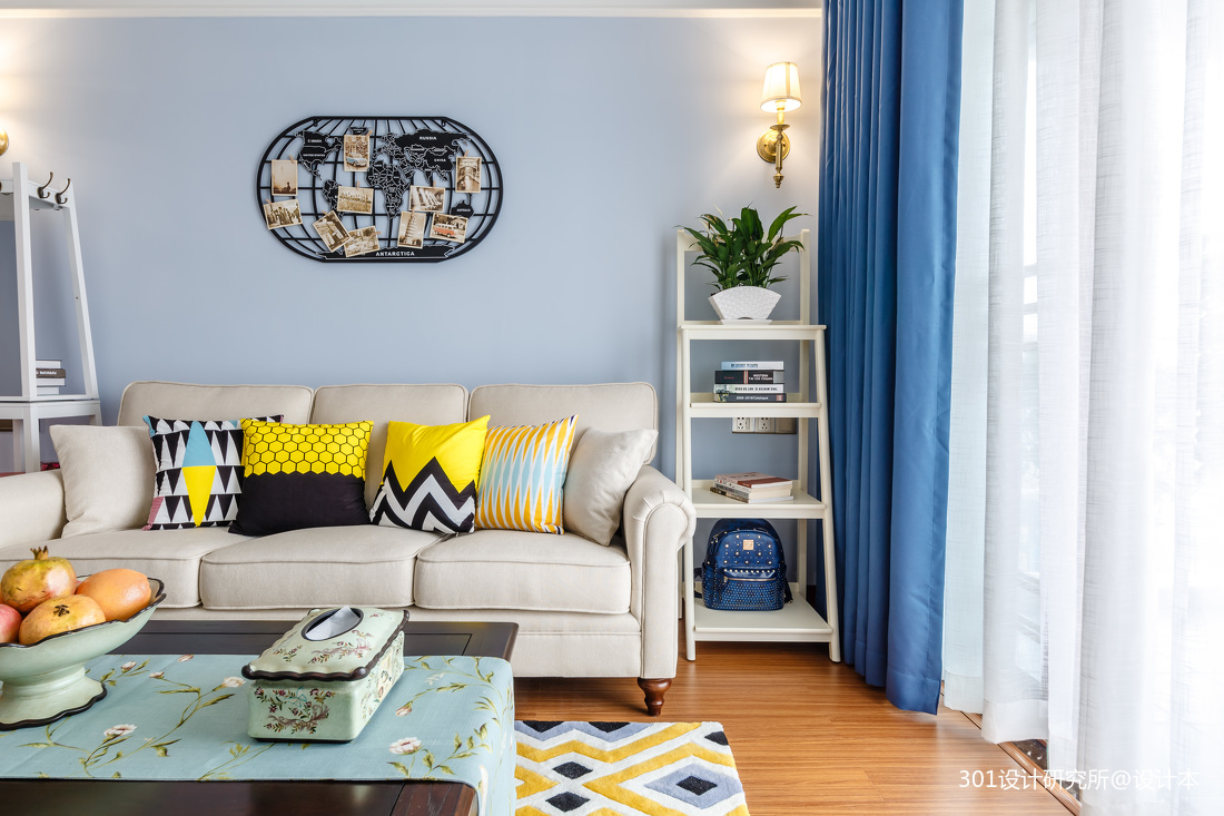 大气71平美式二居客厅装修效果图