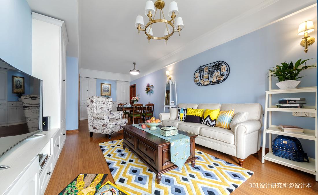 华丽50平美式二居客厅装修装饰图