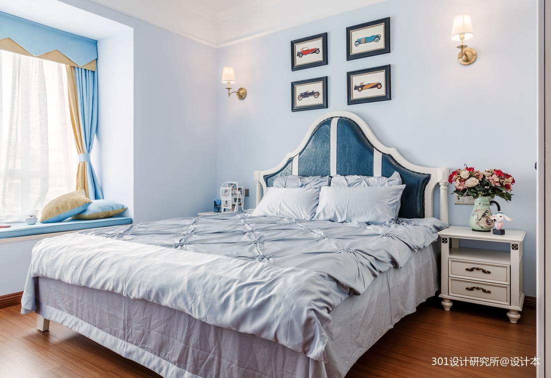 温馨66平美式二居卧室实拍图