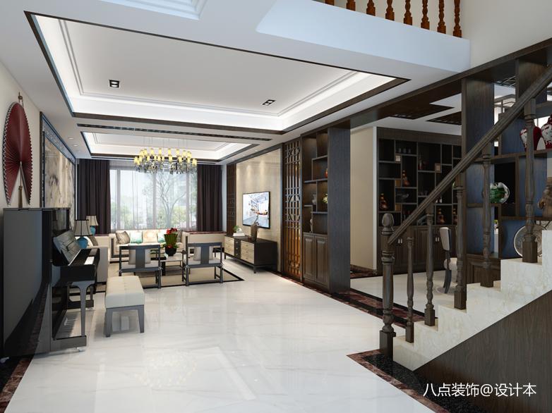 典雅719平中式别墅客厅设计美图