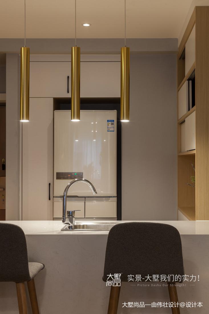 轻奢22平北欧小户型厨房设计美图