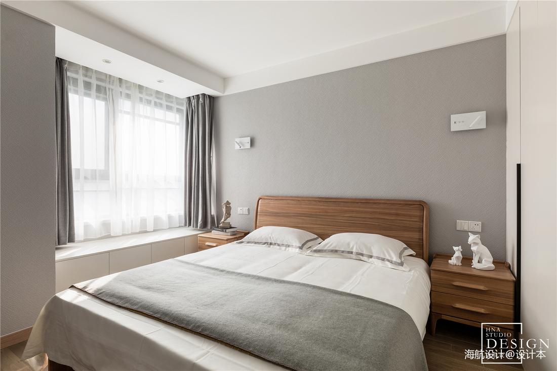 质朴101平北欧三居卧室图片大全
