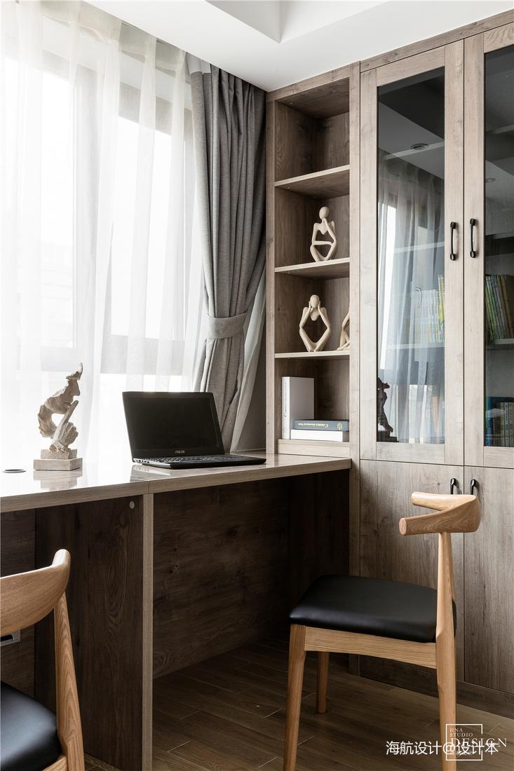 优雅75平北欧三居书房装修设计图