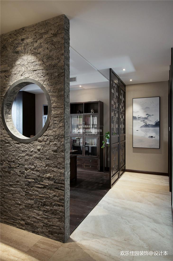 中式四居書房隔斷設計