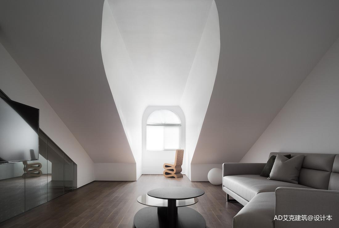 明亮42平现代复式休闲区效果图欣赏