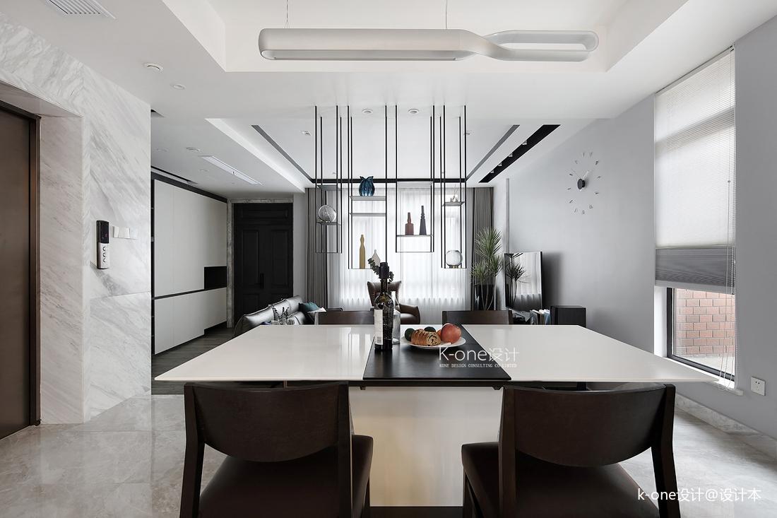 温馨915平简约别墅餐厅设计效果图