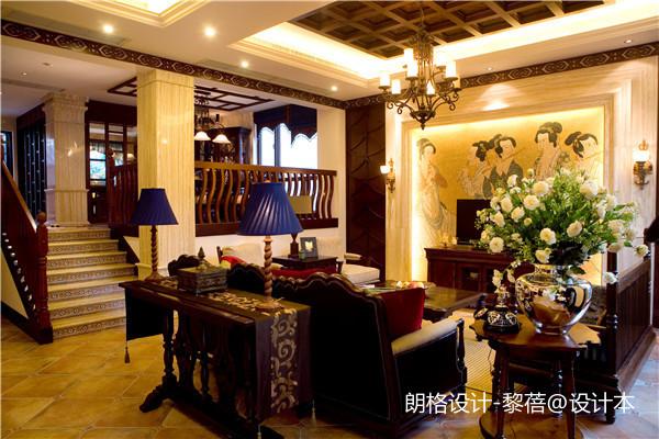 大气380平欧式别墅客厅设计案例
