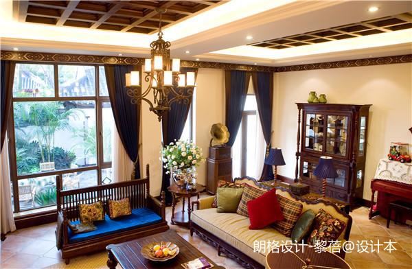 简洁440平欧式别墅客厅实景图片