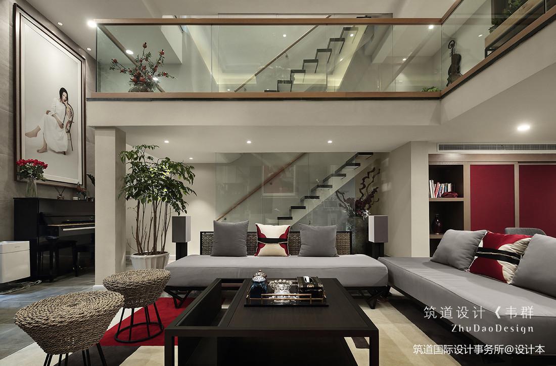 温馨787平中式别墅客厅设计案例