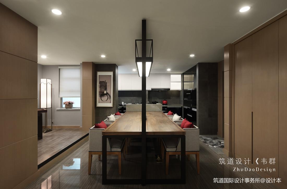 温馨634平中式别墅餐厅装修设计图