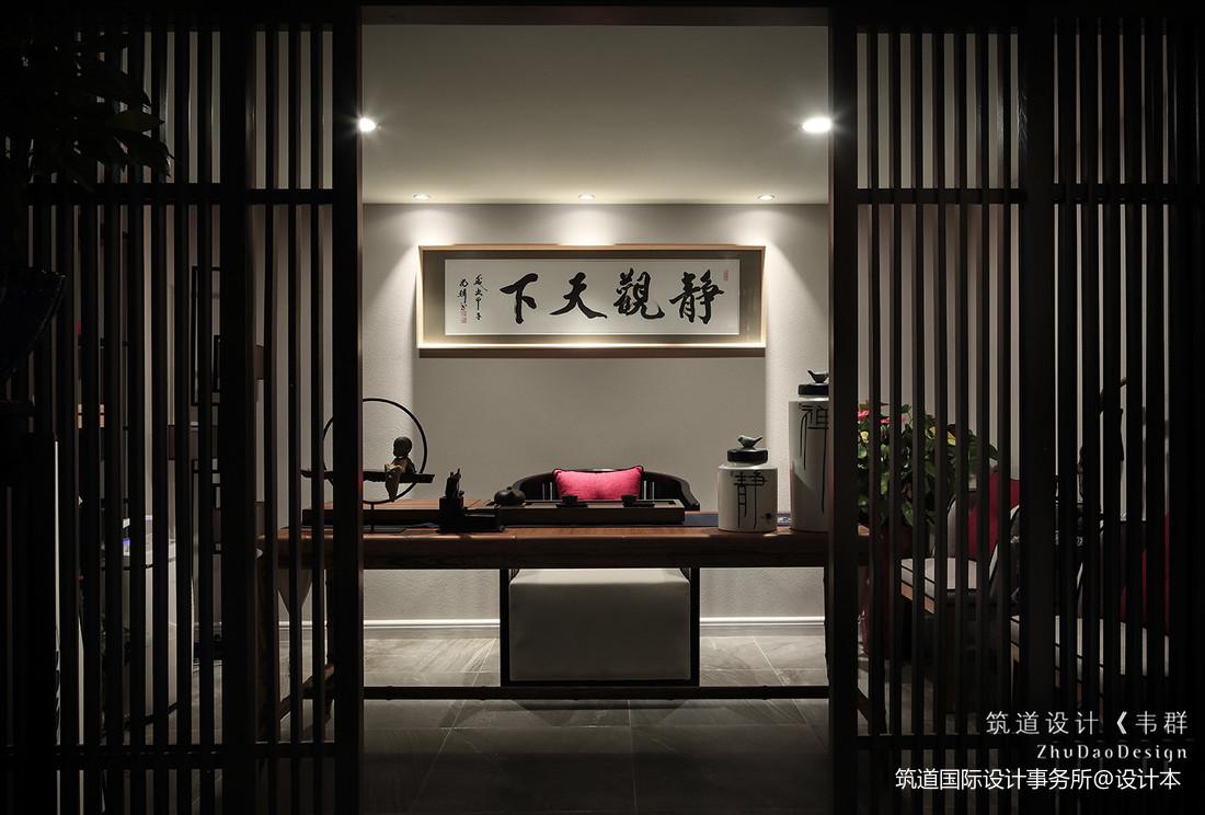 悠雅875平中式别墅书房装修装饰图