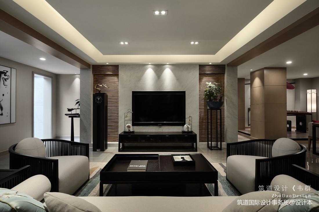 温馨500平中式别墅客厅装修美图