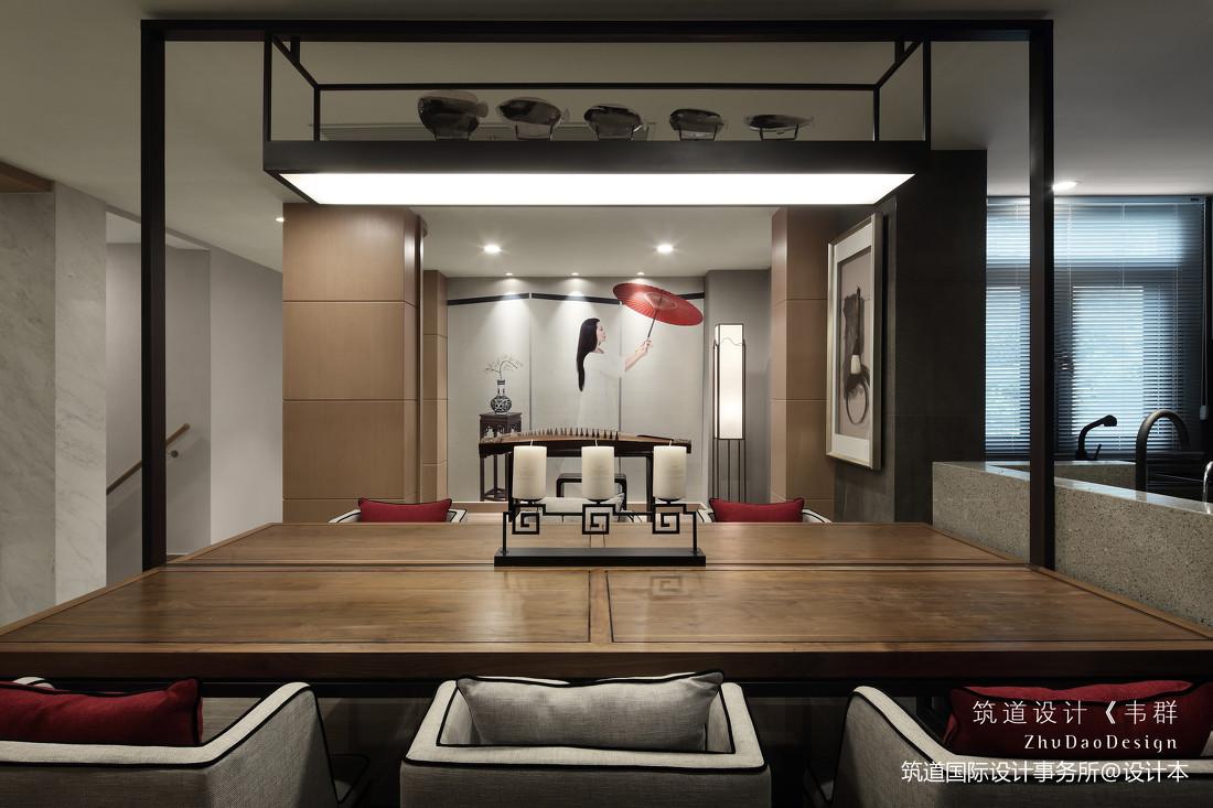 精美362平中式别墅餐厅装修图